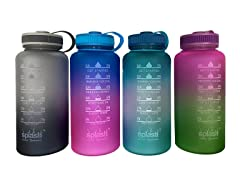 Splash Asstd Motivational WaterBottle 3P