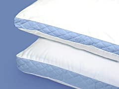 Wellrest Quilted Sidewall 2pk Pillow - Firm