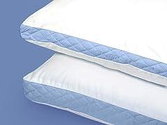 Wellrest Quilted Sidewall 2pk Pillow - Firm