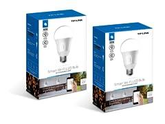 TP-Link 2-Pack Kasa Smart Wi-Fi LED Light Bulbs