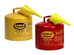 5 Gal Galvanized Steel Gas Can, Your Choice