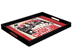 Popcorn Double Feature Tray 17x14""