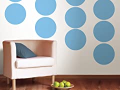 Way Cool Blue Dot Decals - Set of 20