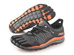 Fila Skele-Toes - Grey/Orange (Size 7.5)