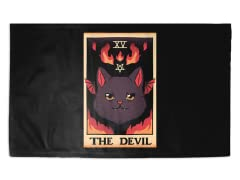 The Devil Cat Tarot Halloween 3' x 2' Rug