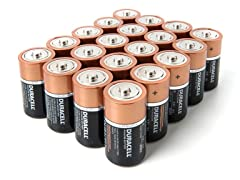 D Alkaline Batteries - 20 Pack