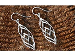 Sterling Silver Layered Drop Earrings