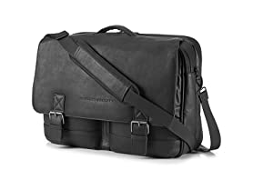 "HP 14"" Laptop Executive Leather Messenger Bag"