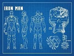 Iron Man Profile Screen Print