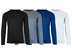 Men's Moisture Wicking L/S Tee 4-PK