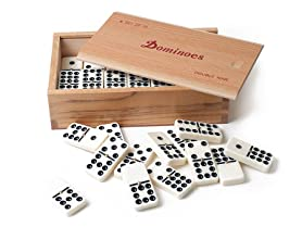 Premium Set of 55 Double Nine Dominoes w/Wood Case