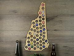 Beer Cap Map: New Hampshire