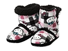 Hello Kitty Junior's Short Slipper Bootie, Check