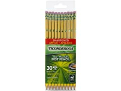 Ticonderoga Wood-Cased Graphite Pencils, #2 - 30 Pack
