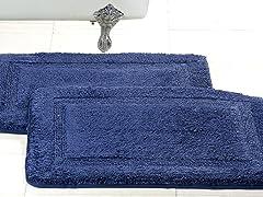 Cotton Memory Foam Bath Rug (Set of 2)