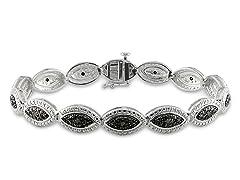 0.17cttw Black Diamond Bracelet