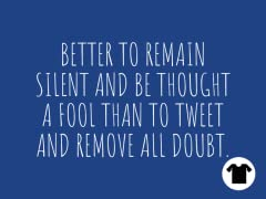 Better to Remain Silent