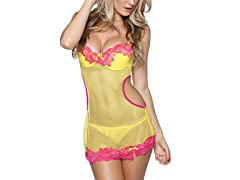 Stretch Fishnet Babydoll