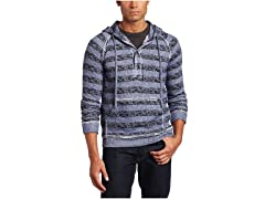 Alex Stevens Men's All Over Stripe Hoodie, Blue