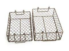 Nesting Metal Baskets