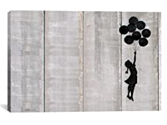 Flying Balloon Girl Canvas Print