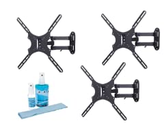 "3pk Articulating Mount for 13-47"" TVs w/ Screen Clean Kit"