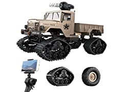 XtremePro Off-Road Military Truck RC Toy w/ HD Cam