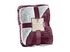 Genteele Sherpa Throw Blanket