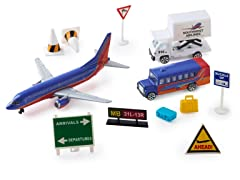 Southwest Airlines Die Cast Playset