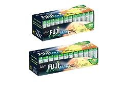 Fuji EnviroMAX Batteries 96 Pack - 48AA + 48AAA