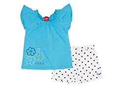 Blue Flower 2-Piece Short Set (12M-4T)