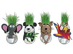 Grow-A-Head Wildlife 4-Pack