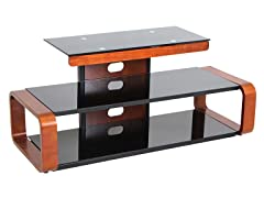 LumiSource Metro Series TV Stand  Wenge/ Walnut