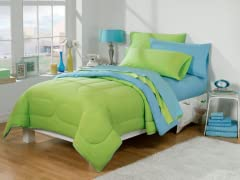 30-Piece Twin XL Bed/Bath Set -Aqua/Kiwi