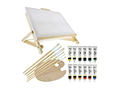 US Art Supply Painting Table Easel Set