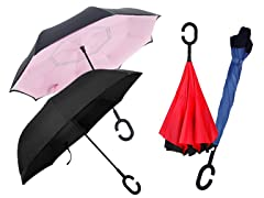 Swisstek Reverse-Folding Umbrella