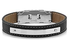 Men's Leather Bracelet with Sitches