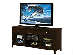Riley 64in Solid Oak TV Console