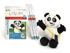 Portuguese for Kids: Language Box Set Volume I w/Panda Plush