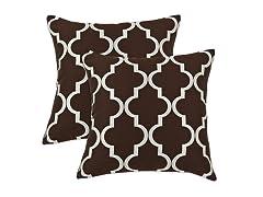 Decade 16x16 Pillows - Cocoa - Set of 2