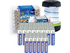 ACDelco Bundle: AA 48pk, AAA 24pk, & Pop Up Lantern