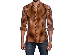 Jared Lang Dress Shirt, Orange/Navy
