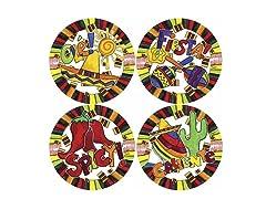Thirstystone Olé Fiesta Coasters, S/4 multi