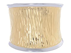14K Gold Plated Wide Cuff Bangle