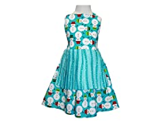 Jessica Pleated Apron- Frosty