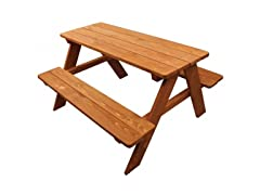 Wood Kids Picnic Table