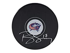 Brandon Dubinsky Blue Jacket Signed Puck