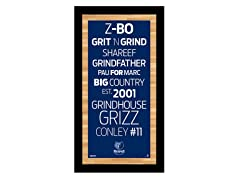 "Memphis Grizzlies 9.5"" x 19"" Sign"