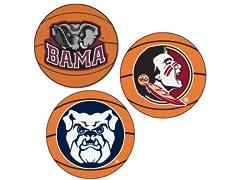 """Fanmats NCAA Basketball Mat 27"""" A-F"""