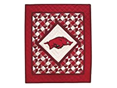 University of Arkansas Quilted Throw